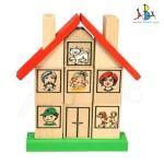 """Didaktiline puidust mänguasi klotsidega """"Minu kodu"""""""