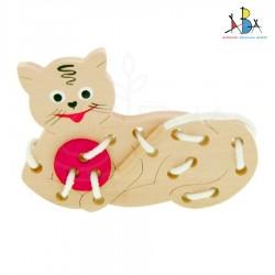 Puidust arendav mänguasi *Kingapaelad-Kass*