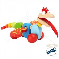 """Järelveetav puidust mänguasi """"Dragon"""""""