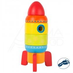 """Puidust kujundimäng """"Stacking Rocket"""""""