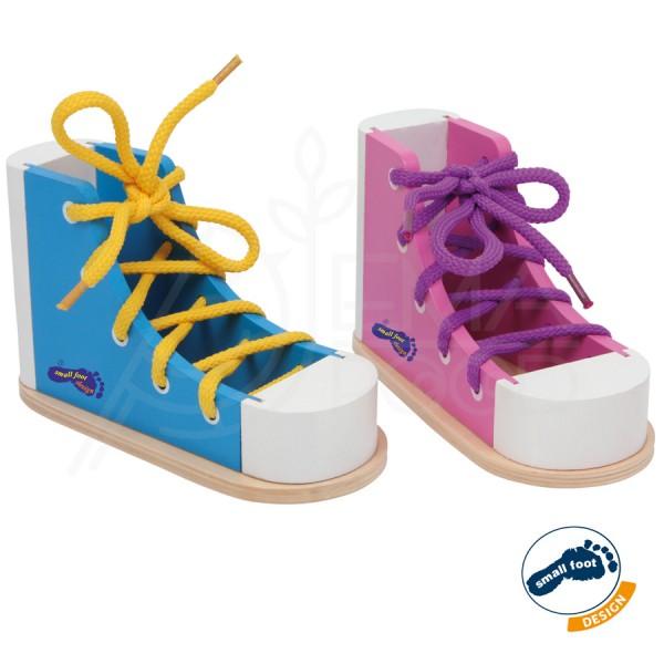 """Puidust arendav mänguasi """"Värvilised kingad"""""""