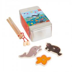 """Puidust motoorika mänguasi """"Fishing Game Ocean"""""""