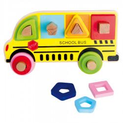 "Puidust arendav mänguasi ""School Bus"""