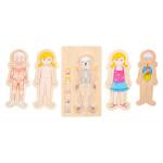 """Puidust arendav pusle-mänguasi """"Anatomy Girl"""""""