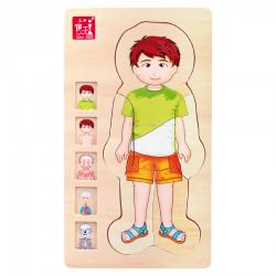 """Puidust arendav pusle-mänguasi """"Anatomy Boy"""""""